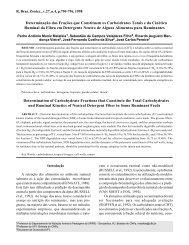 Determinação das Frações que Constituem os Carboidratos Totais ...