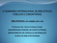 IV SEMINÁRIO INTERNACIONAL DE BIBLIOTECAS PÚBLICAS E COMUNITÁRIAS