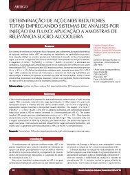 determinação de açúcares redutores totais ... - Revista Analytica