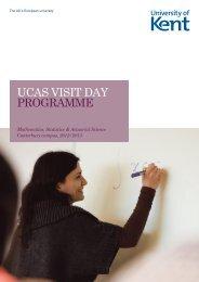 Mathematics, Statistics and Actuarial Science (pdf) - University of Kent