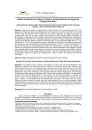 1 Análise de Bactérias Coliformes Totais e Termotolerantes nas ...