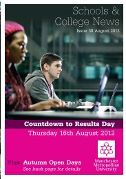 August 2012 - Manchester Metropolitan University
