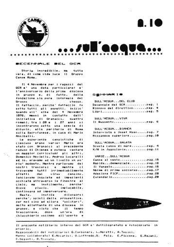 n° 10 - 1986 - Gruppo Canoe Roma