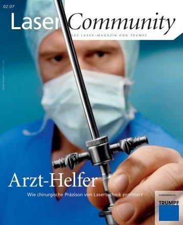 Schrittmacher Lasertechnik - TRUMPF Laser
