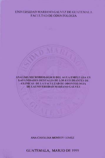 universidad mariano galvez de guatemala facultad de odontologia