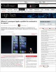 iPhone 5 : pourquoi Apple a préféré la continuité à la rupture - L'Atelier