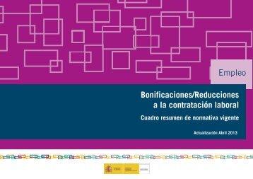 Empleo Bonificaciones/Reducciones a la contratación laboral