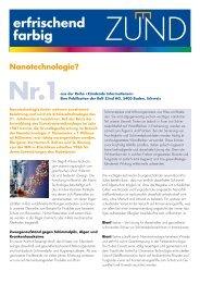 Nanotechnologie? Nr.1aus der Reihe «Zündende ... - Rolf Zünd AG