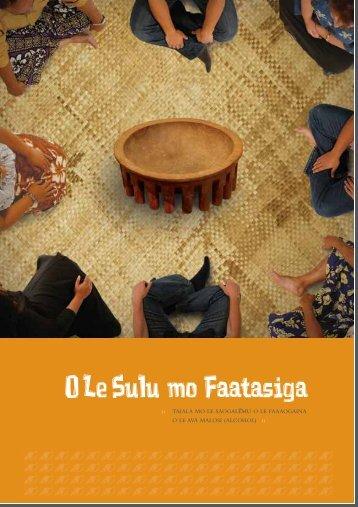 O Le Sulu mo Faatasiga - Alcohol Advisory Council of New Zealand