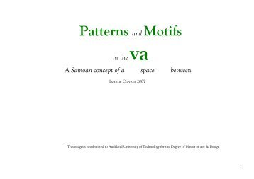 Patterns and Motifs - Scholarly Commons Home