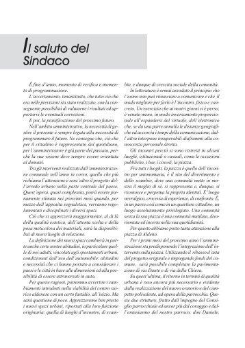 Anno 10 - N. 18 - Dicembre 2006 - Comune di Aldeno
