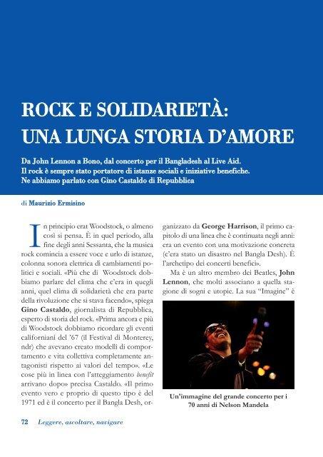 Rock e solidarietà: una lunga storia d'amore - Volontariato Lazio