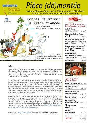 Pièce (dé)montée - CRDP de l'académie de Paris
