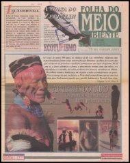 folha do meio ambiente - Centro de Documentação e Pesquisa ...