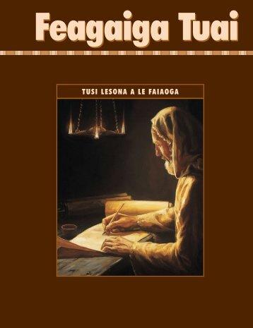 Tusi Lesona a le Faiaoga o le Feagaiga Tuai - The Church of Jesus ...