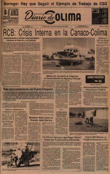 Lunes 15 de Febrero de 1993. - Universidad de Colima