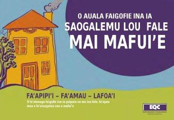 MAI MAFUI'E - Earthquake Commission