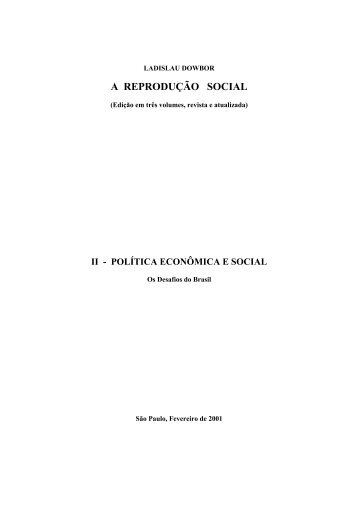 A REPRODUÇÃO SOCIAL - UFRJ
