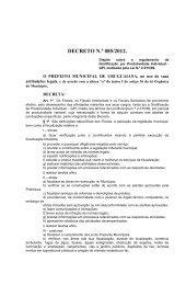DECRETO N.º 085/2012. - Prefeitura Municipal de Uruguaiana