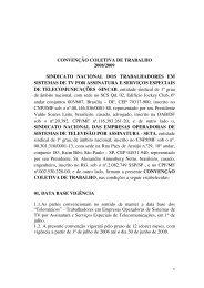 convenção coletiva de trabalho 2008/2009 sindicato ... - SETA