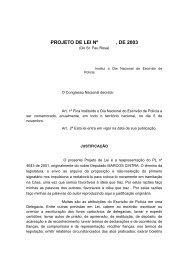 PROJETO DE LEI Nº , DE 2003
