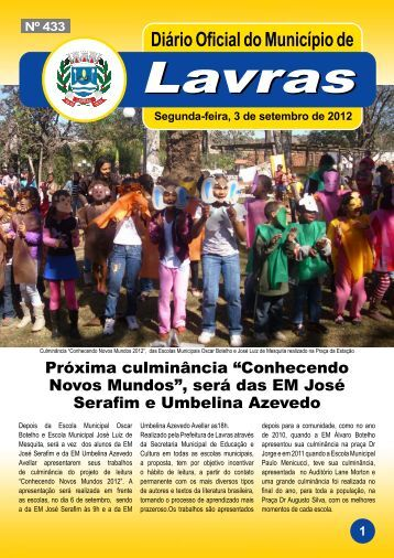 Edição_433_3_09_2012 - Prefeitura Municipal de Lavras