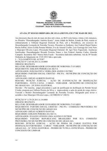 ata da 8ª sessão ordinária de julgamento, em 03 de fevereiro de 2009
