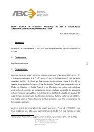 NOTA TÉCNICA Nº 01/2012/ – Projeto de Lei - ABCE