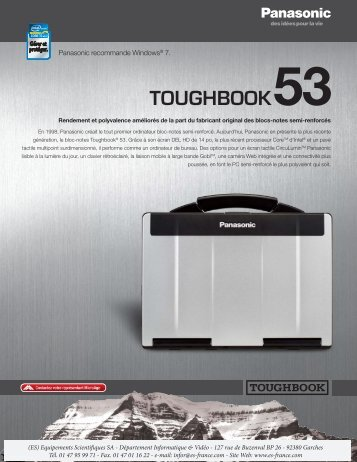 TOUGHBOOK53 - Equipements Scientifiques