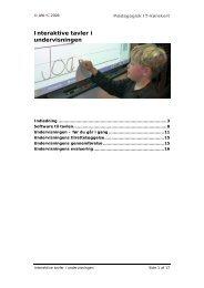 Interaktive tavler i undervisningen - Pædagogisk it-kørekort