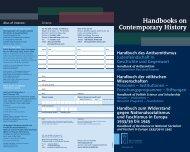 Handbooks on Contemporary History - Walter de Gruyter