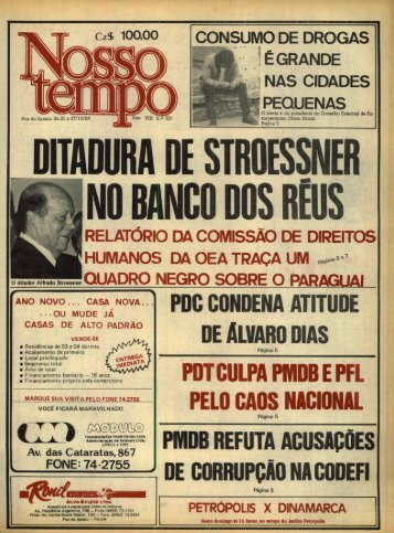 P0C CONDENA ATITUDE DE ALVARO DIAS - Nosso Tempo Digital