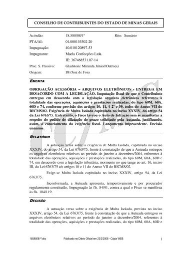 Microsoft Word - 18588081\252.doc - Secretaria de Estado de ...