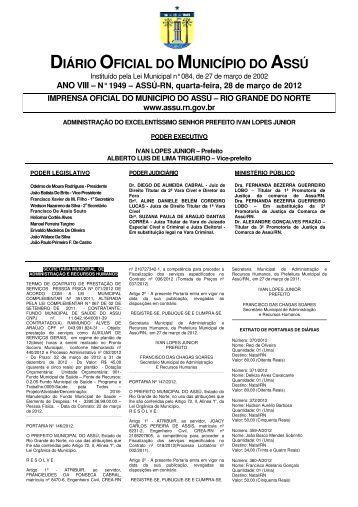 DIÁRIO OFICIAL DO MUNICÍPIO DO ASSÚ - Prefeitura do Assú