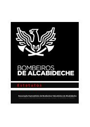 Estatutos - Bombeiros de Alcabideche