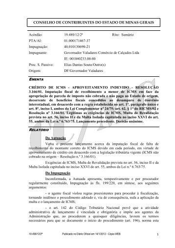 19489 - Secretaria de Estado de Fazenda de Minas Gerais