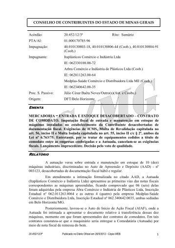 20452 - Secretaria de Estado de Fazenda de Minas Gerais