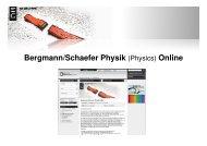 Bergmann/Schaefer Physik (Physics) Online - Walter de Gruyter
