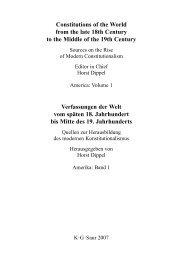 Verfassungen der Welt vom späten 18  ... - Walter de Gruyter