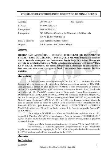 20790 - Secretaria de Estado de Fazenda de Minas Gerais