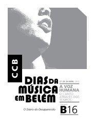 O Diário do Desaparecido - Centro Cultural de Belém