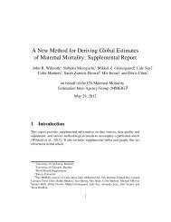 A New Method for Deriving Global Estimates of Maternal Mortality ...