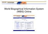 World Biographical Information System (WBIS ... - Walter de Gruyter