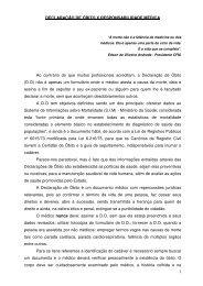 1 DECLARAÇÃO DE ÓBITO X RESPONSABILIDADE ... - Suvisa