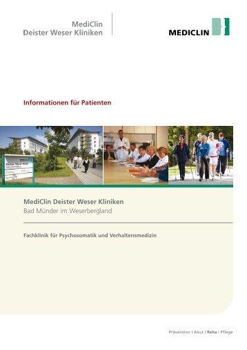 Informationen für Patienten MediClin Deister Weser Kliniken Bad ...