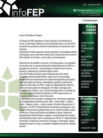 Boletim nº22 - Federação Espírita Portuguesa