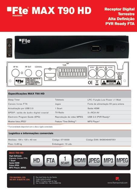 MAX T90 HD - Receptores digitales - FTE Maximal