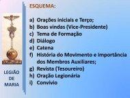 Esquema da Reunião de Auxiliares - 2010 - Paróquia de Santa ...