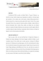 A Legião da Decência e a cruzada cinematográfica católica no ...