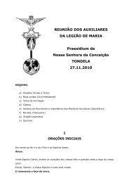 REUNIÃO DOS AUXILIARES DA LEGIÃO DE MARIA Praesidium de ...
